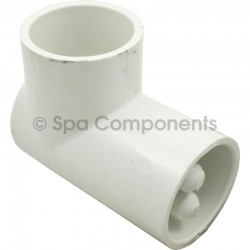"90 Elbow 1-1/2"" soc x 1-1/2"" soc with 2 thermowells"