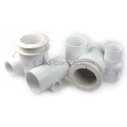 """Poly Jet Body 1"""" S Air x 1"""" S Water - with top plug"""