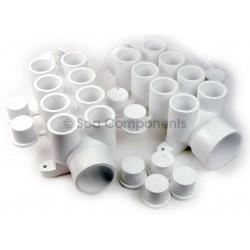 """WATER MANIFOLD : 1-1/2"""" SPG X 1-1/2"""" SOC X (8) 3/4"""" SOC PORTS + Plugs"""