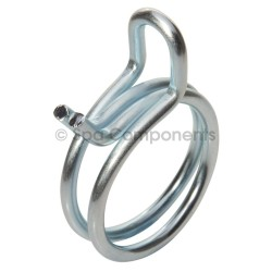 Spring steel pipe clamp for 1/2 pipe
